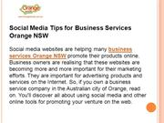 Social Media Tips for Business Services Orange NSW