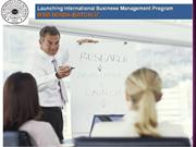 Launching International Business Management Program