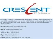Crescent IT Solutions Received Valuable Testimonail on SAP FICO
