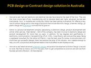PCB design and Contract design solution in Australia