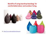 teardrop Bean bag for comfortable indoor as well as outdoor seating