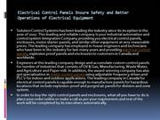 Electrical Control Panels Ensure Safety and Better Operations