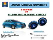 Mild Hybrid vehicles
