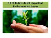 Lets talk about ENVIRONMENT-1