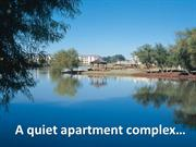 A quiet apartment complex