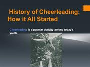 Cheerleading History- How it All Started