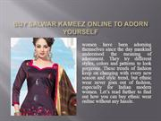 Buy Salwar Kameez Online To Adorn Yourself with Latest Ethnic Wear