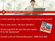 Franchise Opportunity - Mr Handyman - Career Opportunity