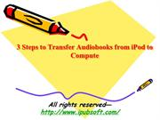 3 Steps to Transfer Audiobooks from iPod to Computer
