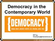 Democracy in the Contemporary World