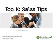 Top 10 Sales Tips