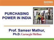 Purchasing Power in India