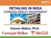 Retailing in India FDI