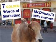7 Golden Words of Marketing - McDonald's