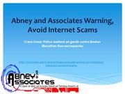 Abney and Associates Warning, Avoid Internet Scams