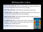 Netiquette rules