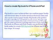 How to create flip book for iPhone and iPad