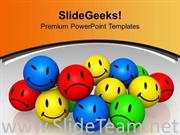 DIFFERENT EXPRESSIONS INDIVIDUALITY POWERPOINT TEMPLATE