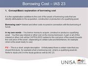 Borrowing cost - IAS 23