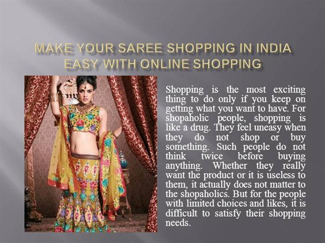 Make your saree shopping in india easy with online shopping make your saree shopping in india easy with online shopping authorstream toneelgroepblik Choice Image