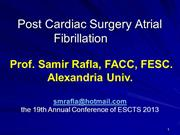 Samir Rafla - Post Cardiac Surgery Atrial Fibrillation
