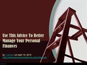 Use This Advice To Better Manage Your Personal Finances