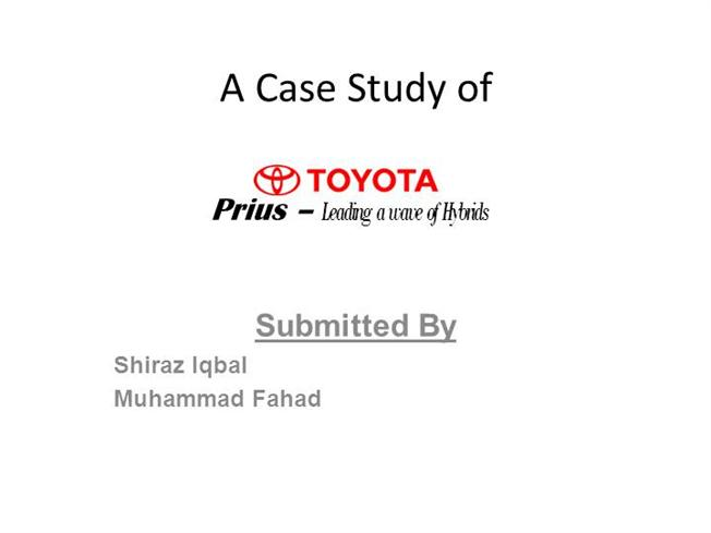 summary of toyota case management control