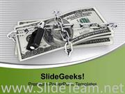 DOLLARS CHAINED AND LOCKED SECURITY POWERPOINT TEMPLATE