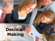 Decision Making PPT Content