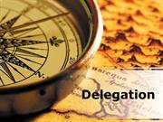 Delegation PPT Content