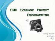 CMD Command Prompt Programming I