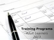 Training Adult Learners PPT Content