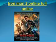 Iron man 3 online full online