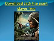 Download Jack the giant slayer free