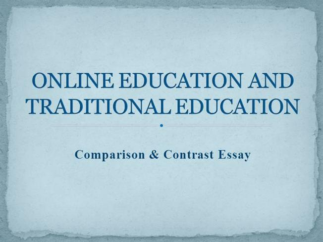 online education and traditional education authorstream