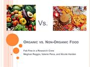 Organic vs. Non-Organic Food