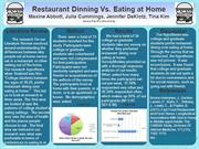 Restaurant Dining Vs. Eating at Home