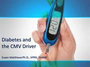 Diabetes and the CMV Driver