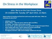 On Stress in the Workplace