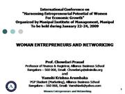 Women Entrepreneurs and Networking