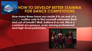 Ways to Develop a Better Stamina for Dance Competitions