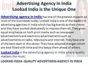 Advertising Agency in India lookad india