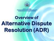9 ADR Overview