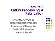 VLSI_CMOS Processing & Fabrication Lecture02