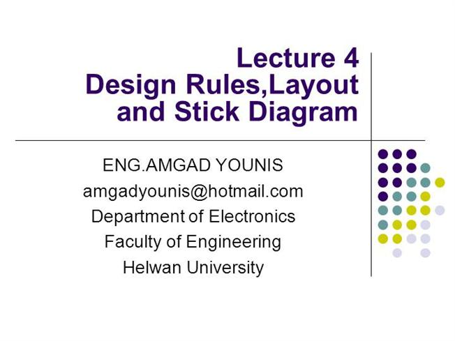 Vlsidesign ruleslayout and stick diagram lecture04 authorstream ccuart Images