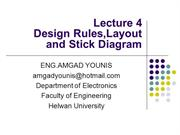 VLSI_Design Rules,Layout and Stick Diagram Lecture04