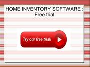 Home inventory software : Free trial