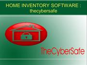 Home inventory software : thecybersafe