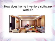 home inventory software works