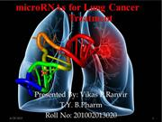 microRNAs for Lung Cancer Treatment (7)